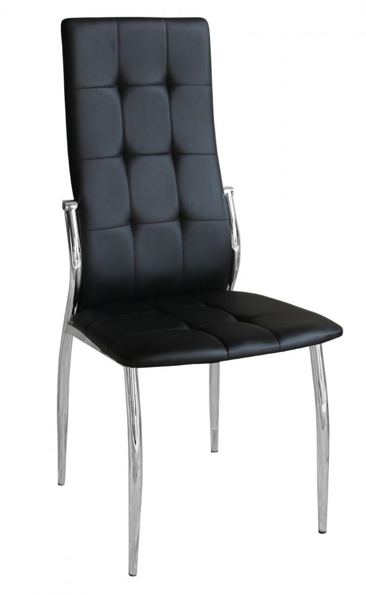 Oyster PU Chairs Black & Chrome