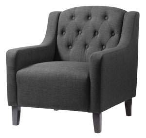 Pemberley Fabric Arm Chair Grey
