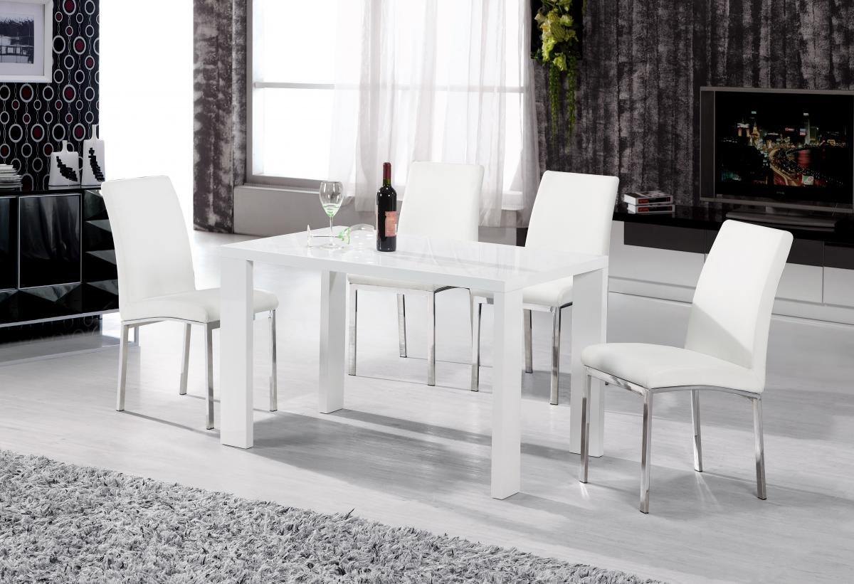 Peru Dining Table White High Gloss