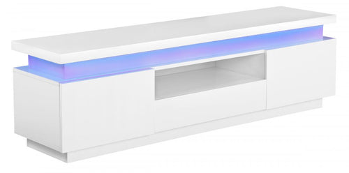Polaris LED High Gloss TV Cabinet White