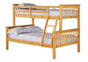 Porto Triple Bunk Bed Pine