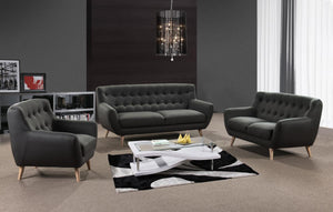 Rihanna Fabric 1 Seater Sofa Grey