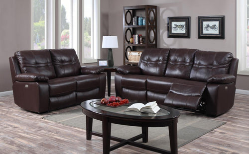 Rockport Power Recliner Leather & PU 2 Seater