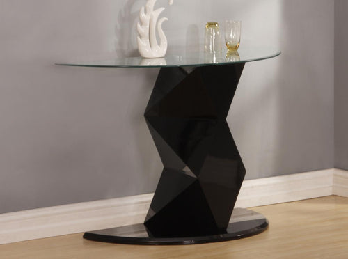 Rowley Black High Gloss Console Table