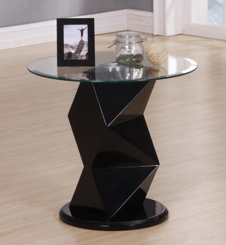 Rowley Black High Gloss Lamp Table