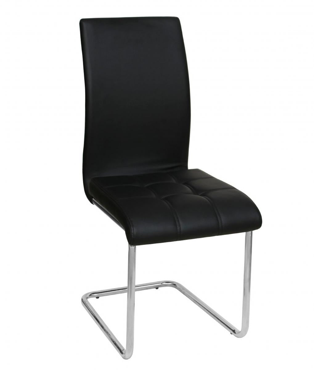 Samurai PU Chairs Chrome & Black (4s)