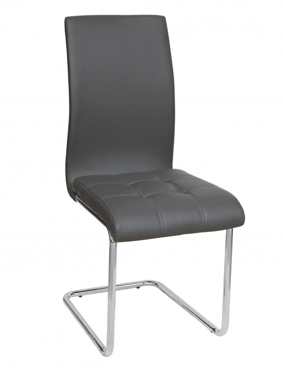 Samurai PU Chairs Chrome & Grey (4s)
