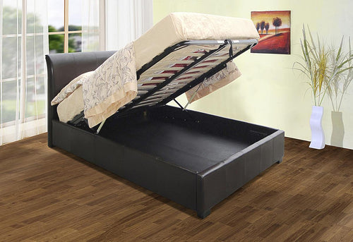 Savona Storage PU King Size Bed