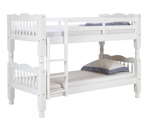 Trieste Chunky Pine Bunk Bed White Wash