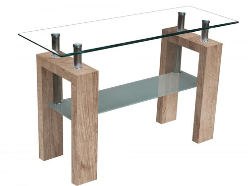 Telford Console Table High Gloss Natural