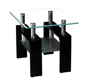 Telford Lamp Table High Gloss Black