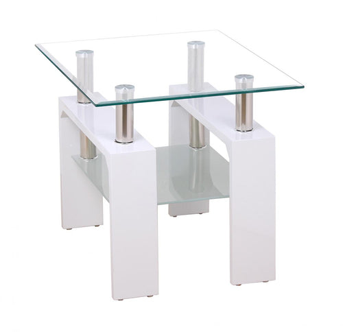 Telford Lamp Table High Gloss White