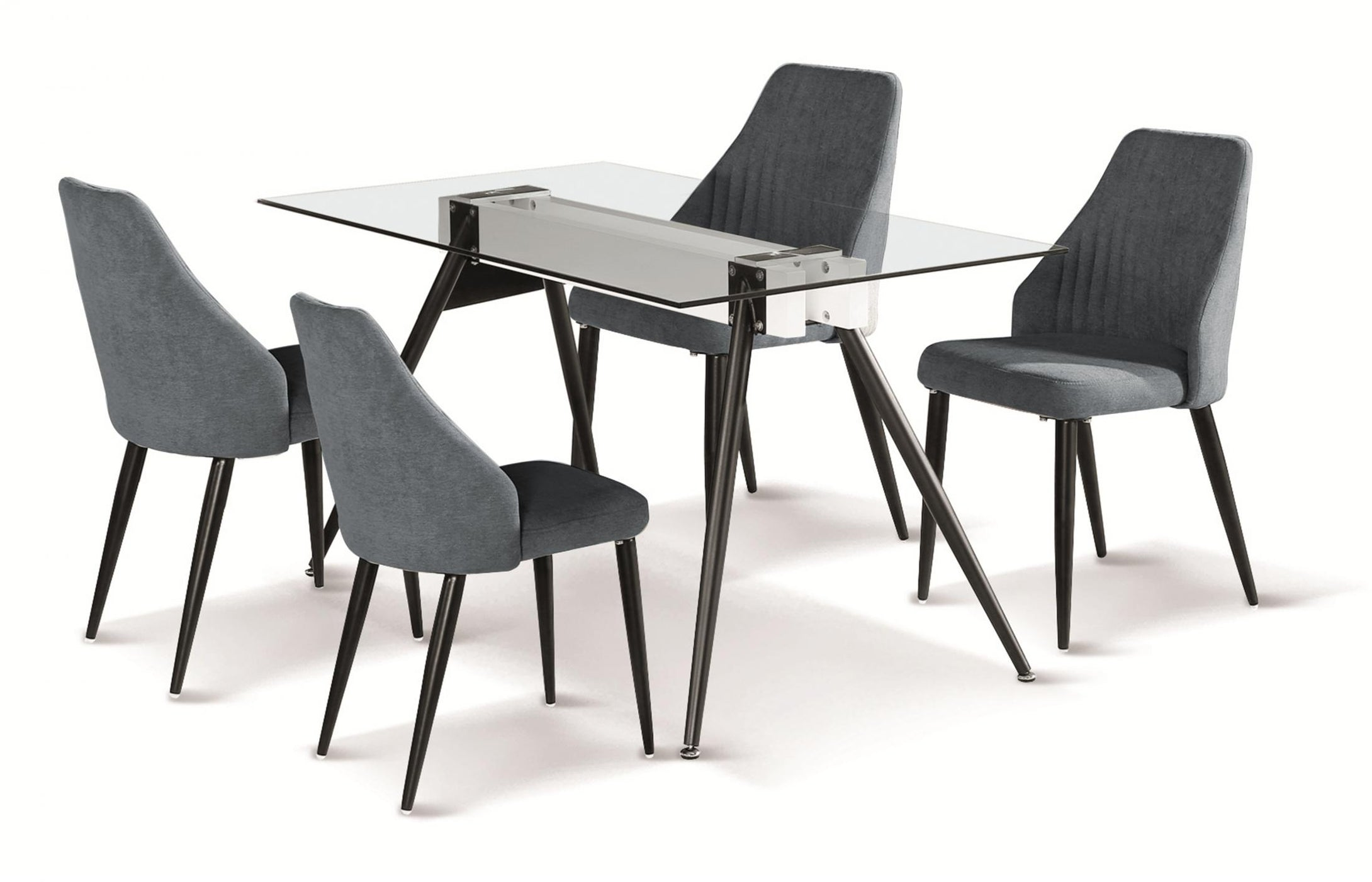 Tessa Dining Table with Black Metal Legs