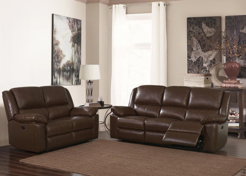 Toledo Recliner Leather & PVC 3 Seater