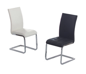 Union PU Dining Chairs Chrome