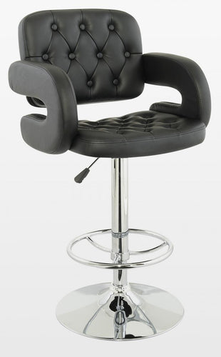 Utah Bar Stool PU Chrome & Black