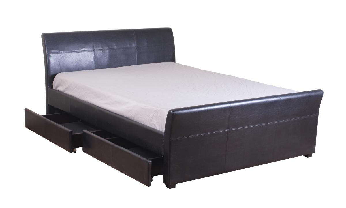Viva 4 Drawer PVC Double Bed