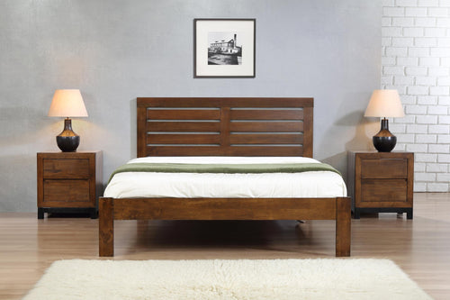 Vulcan King Size Bed Rustic Oak