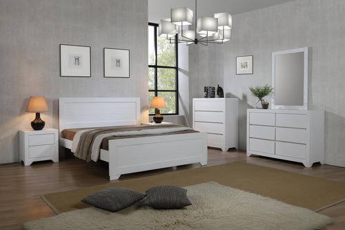 Zircon Double Bed White