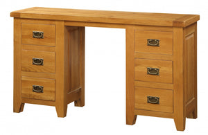 Acorn Solid Oak Dressing Table 6 Drawers