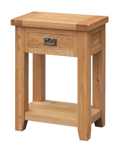 Acorn Solid Oak Hall Table 1 Drawer