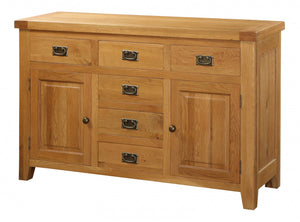 Acorn Solid Oak Sideboard Large 2 Doors & 6 Drawers