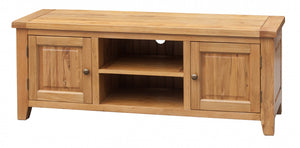 Acorn Solid Oak TV Unit Straight