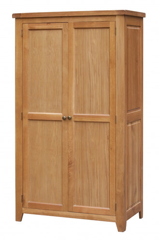 Acorn Solid Oak Wardrobe 2 Door Full Hanging