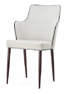 Capri PU Chairs White with Black Edge (2s)