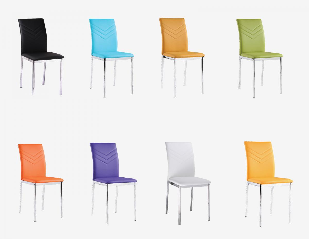 Carina PU Chairs Chrome