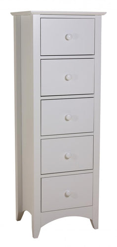 Chelsea White Chest 5 Drawer