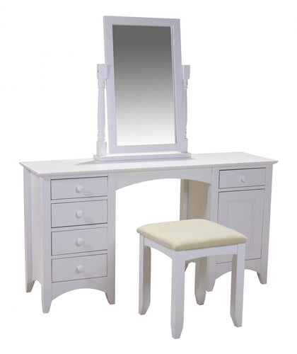 Chelsea White Dressing Table Stool