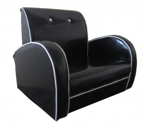 Dallas Kids Sofa PU Black