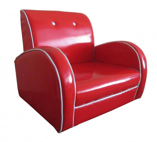Dallas Kids Sofa PU Red