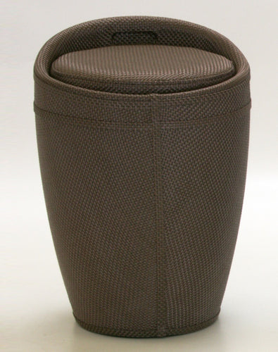 Dawson Brown Textilene Stool with Storage