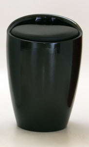 Dawson Black High Gloss Stool with Storage
