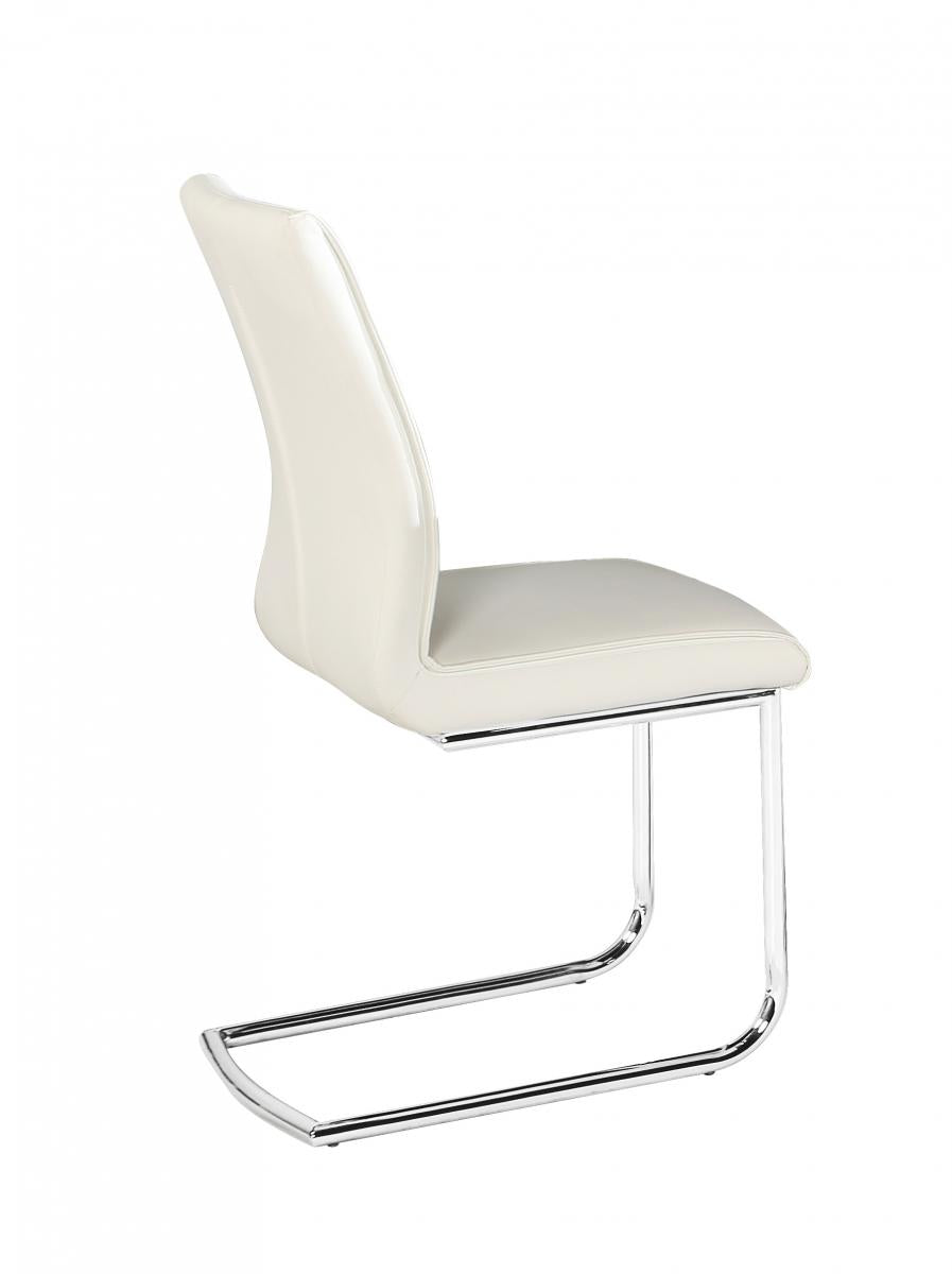 Honora PU Chairs Chrome & White (2s)