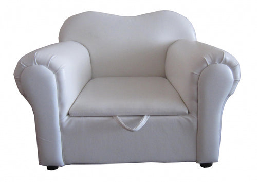 Isabella Kids Sofa PU White