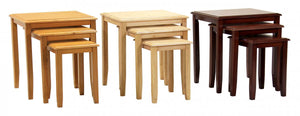 Kingfisher Solid Rubberwood Nest of Tables