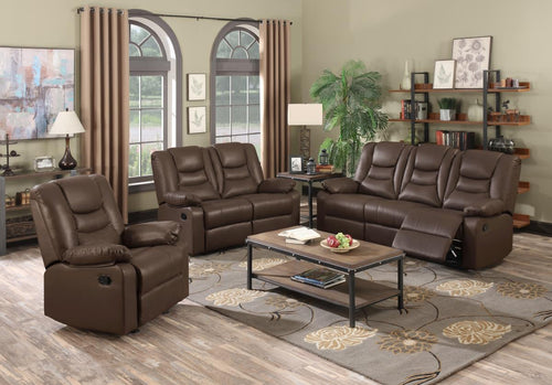 Kirk Recliner Bonded PU 3 Seater