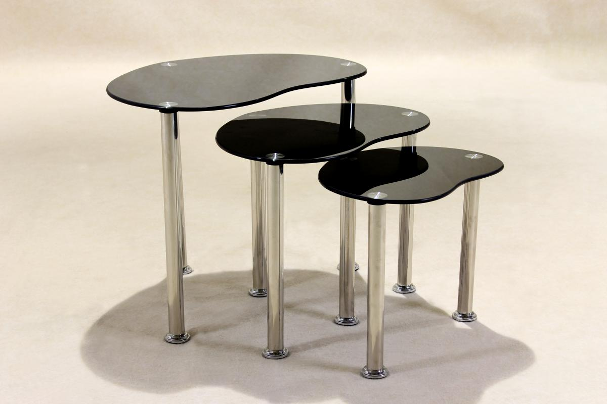 Logan Black Nest of Tables