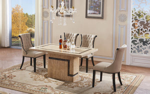 Potenza Marble Dining Table with Marble Base