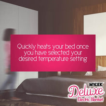 Load image into Gallery viewer, MYLEK Double Size Deluxe Electric Blanket Fully Fitted with Dual Controls
