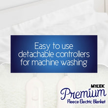 Load image into Gallery viewer, MYLEK Double Size Fully Fitted Fleece Electric Blanket with Dual Controls