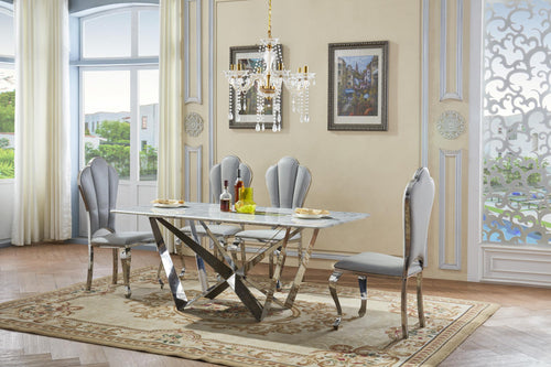 Sardinia Marble Dining Set with 6 Chairs