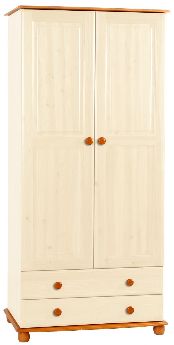 Skagen Cream Wardrobe 2 Door & 2 Drawers