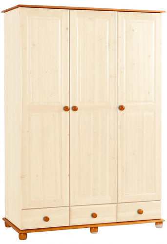 Skagen Cream Wardrobe 3 Doors & 3 Drawers