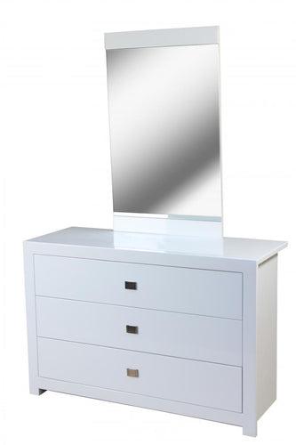 Sokoto High Gloss Dressing Table with Mirror White