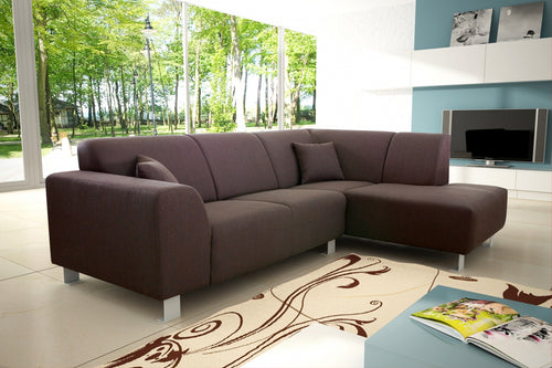 Trend Corner Sofa Fabric Brown