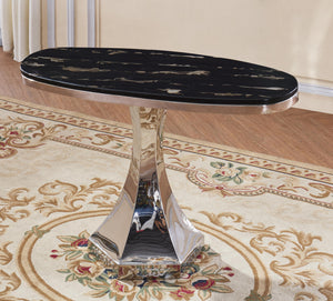 Vasto Marble Console Table with Stainless Steel Base